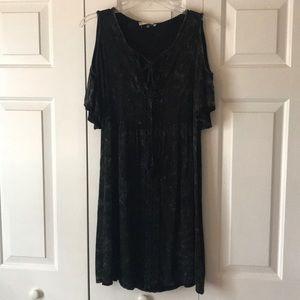 Cold shoulder above knee dress